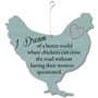 Picture of Chicken Shaped Plaque Sign