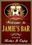Picture of Personalised Pub Sign with Beer and Football Logo
