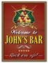 Picture of Personalised Pub Sign with Pool Billiards Design