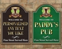 Picture of Personalised Pub Irish sign with shamrock and Guinness pint