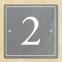Picture of Personalised Metal House Number Sign Square Stone Slate Effect