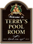 Picture of Personalised Pool Room Pub Sign