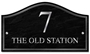 Picture of Personalised Classic Stone Effect Shaped House Number Sign