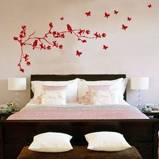 Picture of Blosson Branch and Butterfiles Wall Sticker