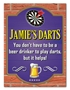 Picture of Personalised Pub Sign with Beer with Darts Logo