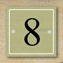 Picture of Personalised Square Metal House Number Sign,Vintage Wooden Style