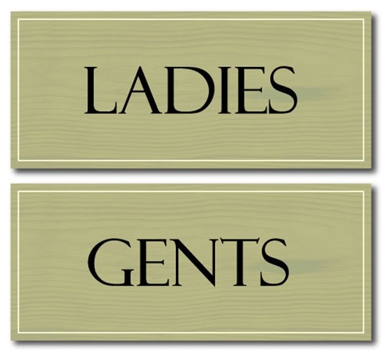 Picture of Wooden Style Toilet Signs