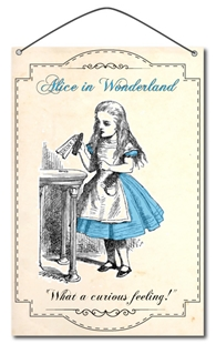 Picture of Wonderful Alice in Wonderland Sign