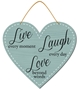 Picture of Heart Shaped Live Laugh Love Sign
