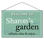 Picture of Personalised Wooden Effect Garden Sign