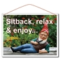 Picture of Relaxing Garden Gnome Sign