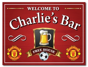 Picture of  Personalised Pub Football Sign Manchester United