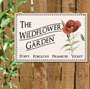 Picture of Poppy Wildflower Garden Sign