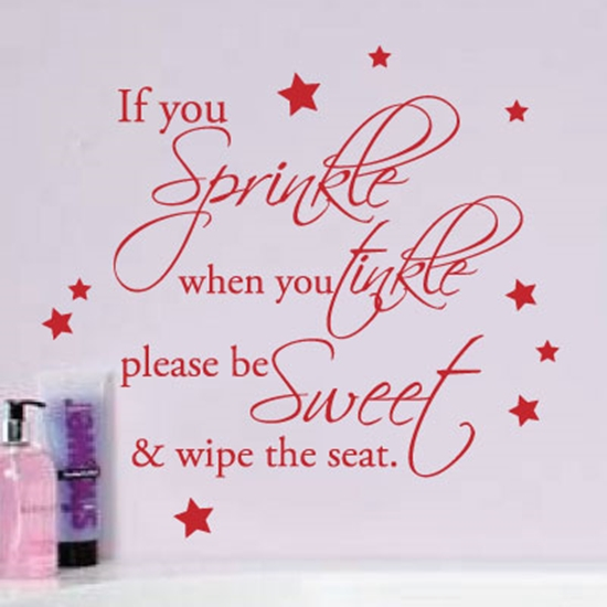 Picture of Sprinkle when you tinkle wall sticker