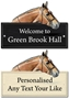 Picture of Personalised Stable Plaque with Horse logo