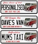 Picture of American Style Number Plate VW Camper Van