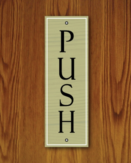 Picture of  Wooden Style Push Pull Door Signs