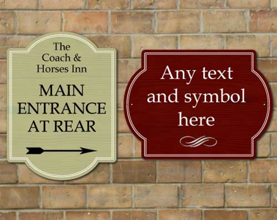 Picture of Shaped Pub information sign