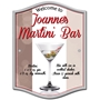Picture of Personalised Martini Home Bar Sign, Custom Metal Cocktail Sign, Original Gift