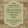 Picture of Patrons Only Car Park Sign - Portrait