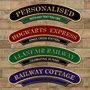 Picture of Vintage Arched Railway Train Sign