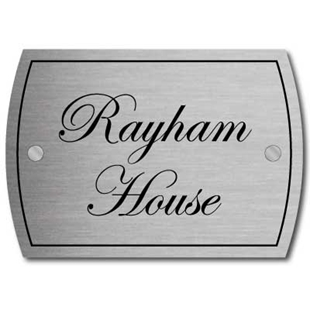 Picture of Personalised Brushed Metal House Sign