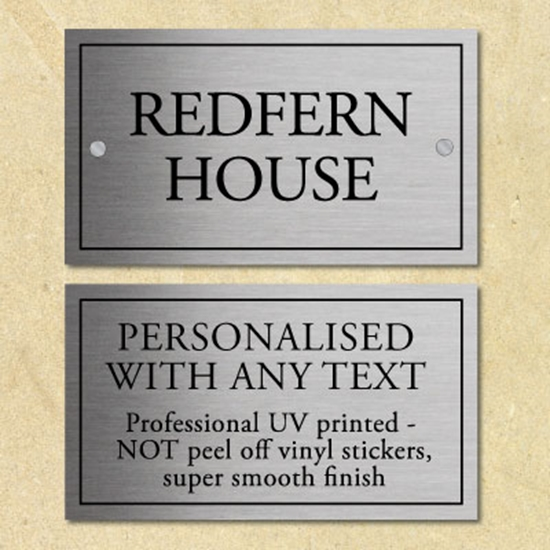 Picture of Personalised Metal House Number Sign