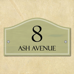 Picture of Classic Shaped House Number Sign