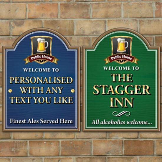 Picture of Traditional Pub sign with Shaped Top
