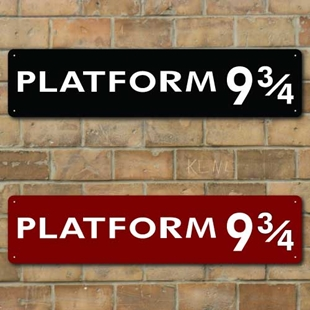 Picture of Platform 9 3/4 Train Station Sign