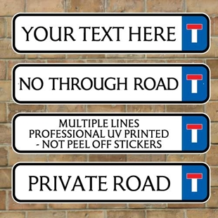 Picture of No Through Road Traditional Street Road Sign, Composite fully weatherproof