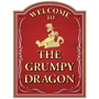 Picture of Personalised Grumpy Dragon Home Bar sign