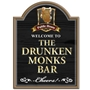 Picture of The Drunken Monk Home Bar sign