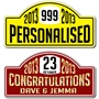 Picture of Personalised Car Rally Plates