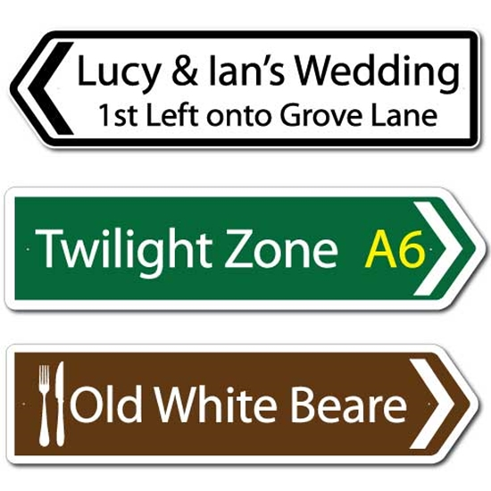 Picture of Personalised Road Direction Pointing Sign