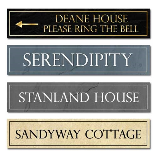 Picture of Letterbox Shaped Stone Effect Shaped House Number Sign