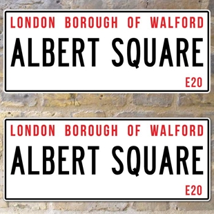 Picture of Eastenders Albert Square Street Sign, Metal Road Sign, Plaque Personalised any text you like