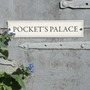 Picture of Letter box shaped  Wooden Effect Garden Sign
