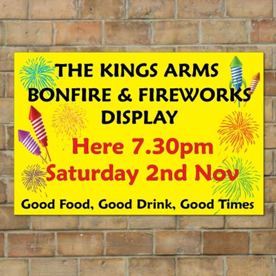 Picture of Bonfire & Fireworks Display Banner