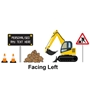 Picture of Personalised Digger Wall Sticker