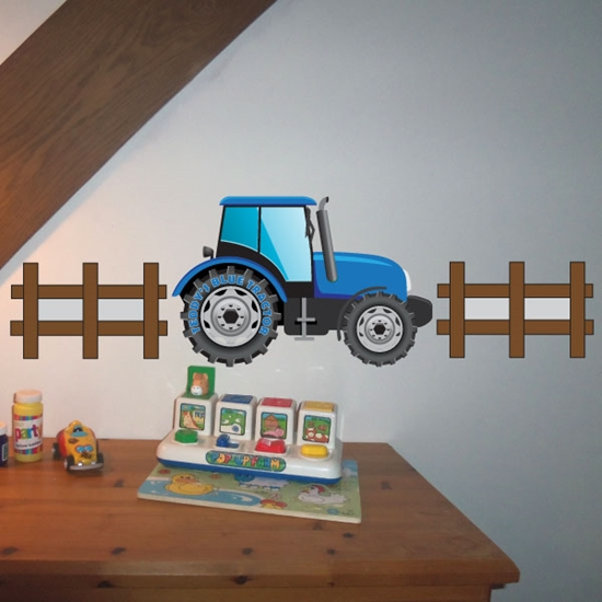 Picture of Personalised Tractor Wall Sticker