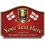 Picture of St Georges Flag England Football Sign