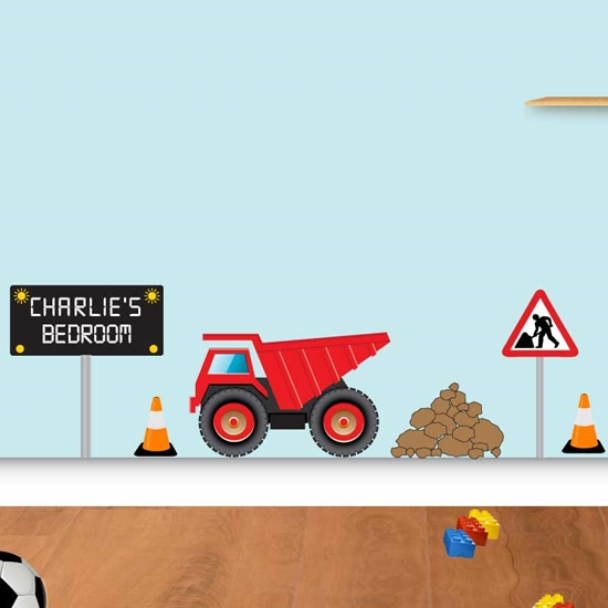 Picture of  Personalised Dumper Truck Wall Sticker