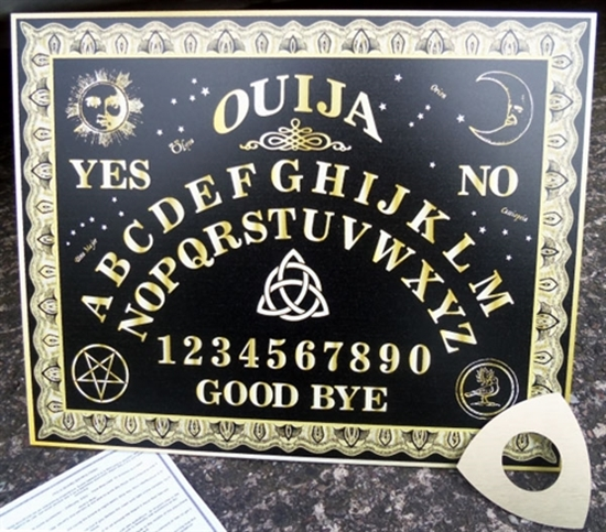 Picture of Original Black and Gold Ouija Board