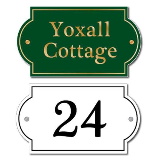 Picture of Personalised Classic Style House Plaque, Landscape sign