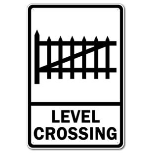 Picture of Level Crossing Sign or Personalised