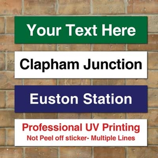 Picture of Modern Railway Train Station  Sign