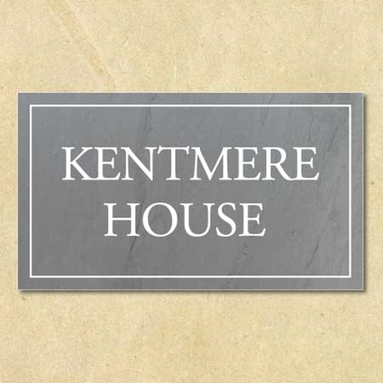 Picture of Personalised House Number Sign Slate Effect