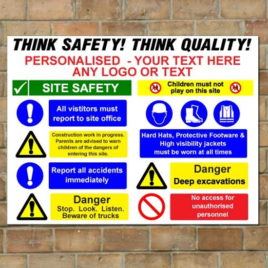 Picture of Personalised Safety Business Building Site Sign Board