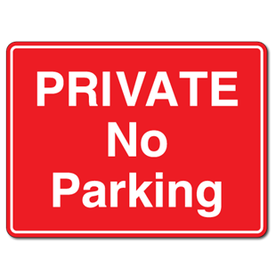 Picture of Quality Rigid No Parking Sign